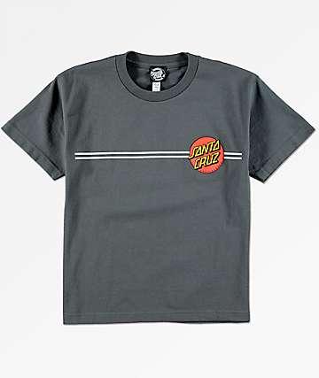 Santa Cruz Boys Classic Dot Charcoal T-Shirt