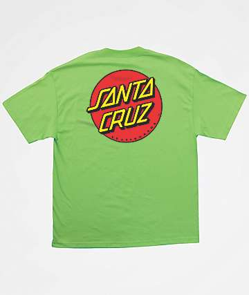Santa Cruz Boys Classic Dot Lime Green T-Shirt
