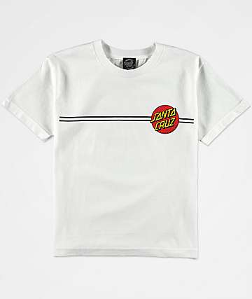 Santa Cruz Boys Classic Dot White T-Shirt