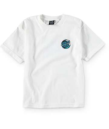 Santa Cruz Boys Wave Dot White T-Shirt