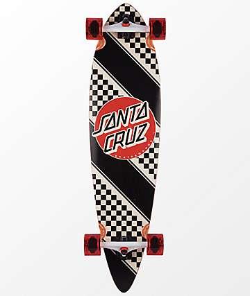 "Santa Cruz Check Stripe Pintail 39"" Longboard Complete"