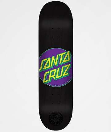 "Santa Cruz Classic Dot Neon Matte 7.25"" Skateboard Deck"