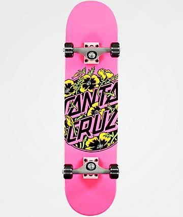 """Santa Cruz Colored Poppy 7.75"""" Skateboard Complete"""