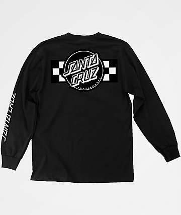 Santa Cruz Contest Black Long Sleeve T-Shirt