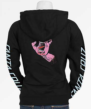 Santa Cruz Double Screaming Hand Black Hoodie