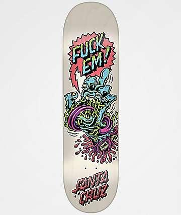"Santa Cruz Fuck Em Hand 8.37"" Skateboard Deck"