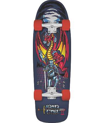 "Santa Cruz Legend Quest 80s 32"" Cruiser Complete Skateboard"