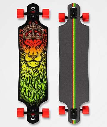 "Santa Cruz Lion God Drop Through 40""  Longboard Complete"