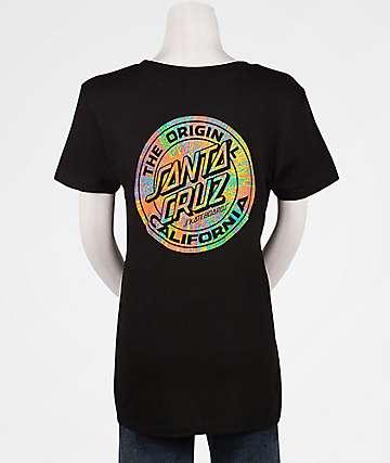 Santa Cruz MFG Prisma Dot Black T-Shirt