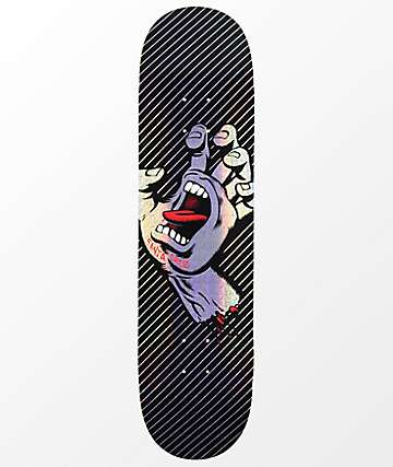 "Santa Cruz Minimal Hand Prismatic 8.0"" Skateboard Deck"