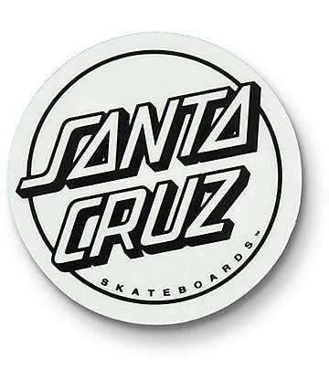 Santa Cruz Opus Dot Clear Black & White Sticker