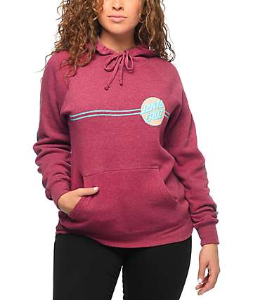 Santa Cruz Other Dot Crimson Hoodie