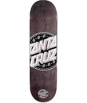 "Santa Cruz Paisley Dot 8.375"" Skateboard Deck"