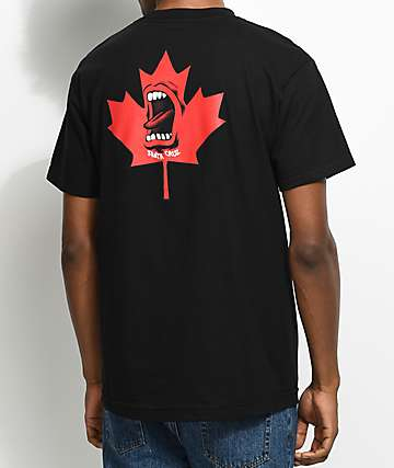 Santa Cruz Screaming Maple Leaf Black T-Shirt