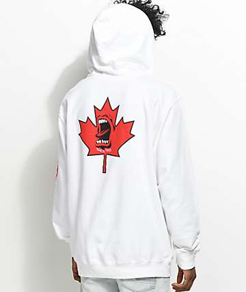 Santa Cruz Screaming Maple Leaf White Hoodie
