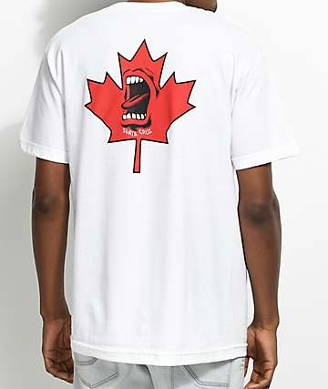 Santa Cruz Screaming Maple Leaf White T-Shirt