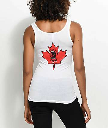 Santa Cruz Screaming Maple White Tank Top