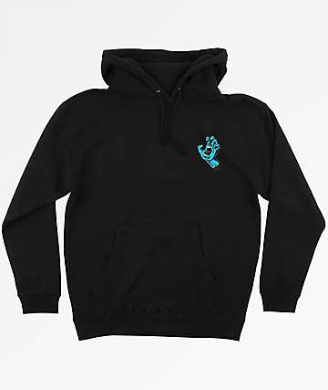 Santa Cruz Screaming Mini Hand Black Hoodie