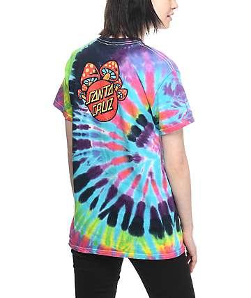 Santa Cruz Shroom Dot Tie Dye T-Shirt