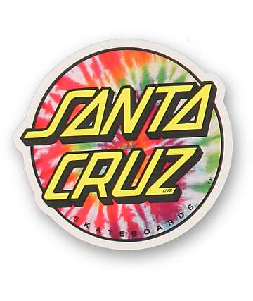 Santa Cruz Tie Dye Dot Vinyl Sticker