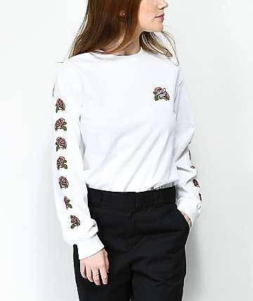 Santa Cruz Victorian Roses White Long Sleeve T-Shirt