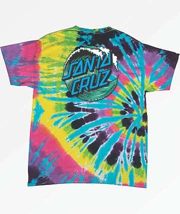 Santa Cruz Wave Dot Multi Tie Dye T-Shirt
