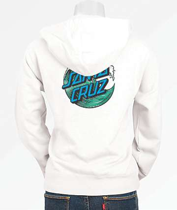 Santa Cruz Wave Dot White Hoodie