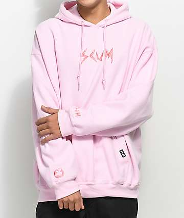Scum Embroidered Pink Hoodie