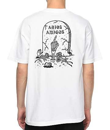 Sketchy Tank Adios White T-Shirt