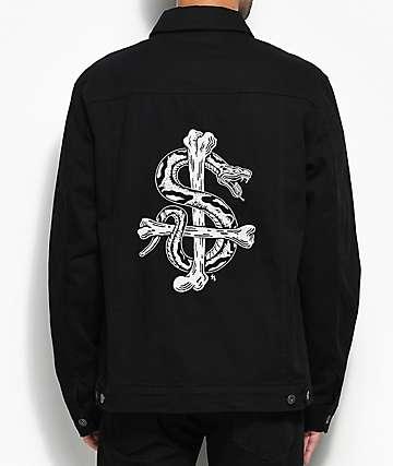 Sketchy Tank Bones Black Denim Jacket