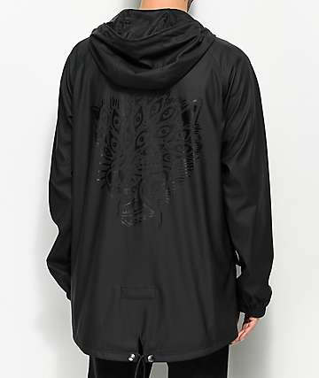 Sketchy Tank Eyes Black Fishtail Coaches Jacket