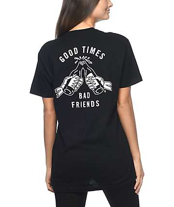 Sketchy Tank Good Times Black T-Shirt