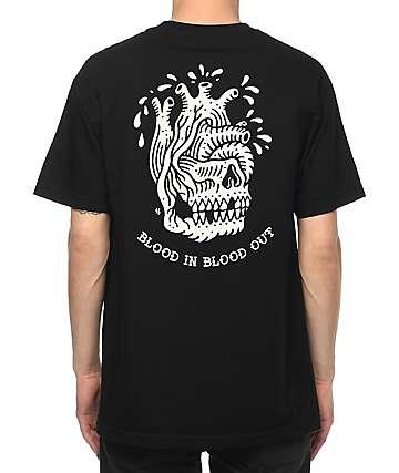 Sketchy Tank Heart Black T-Shirt