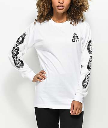 Sketchy Tank LIVE3 White Long Sleeve T-Shirt