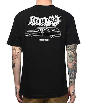 Sketchy Tank Loser Black T-Shirt