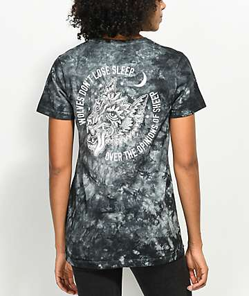 Sketchy Tank Opinions Black Tie Dye T-Shirt