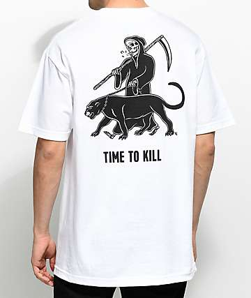 Sketchy Tank Time White T-Shirt