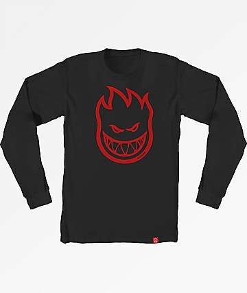 Spitfire Bighead Black & Red Long Sleeve T-Shirt
