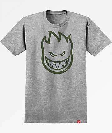 Spitfire Bighead Grey & Army Green T-Shirt