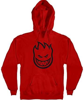 Spitfire Bighead Red Hoodie