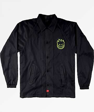 Spitfire Boys Bighead Double Black Coaches Jacket