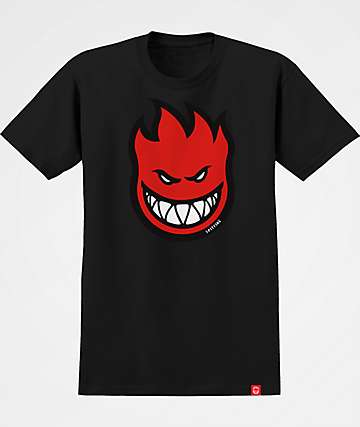 Spitfire Boys Bighead Fill Black & Red T-Shirt