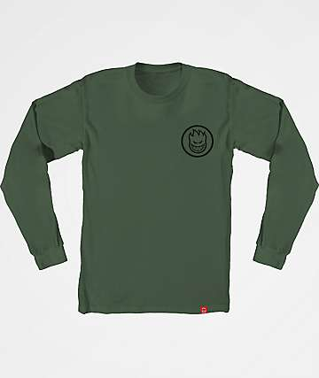 Spitfire Classic Swirl Green Long Sleeve T-Shirt