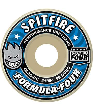 Spitfire Formula Four 51mm 99 Duro Skateboard Wheels