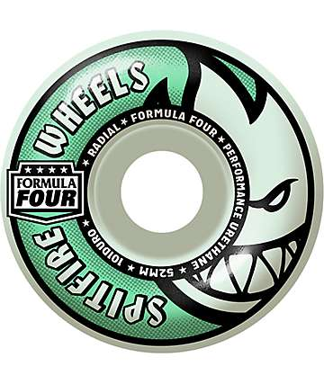 Spitfire Formula Four Radial Glow 52mm 101a Skateboard Wheels