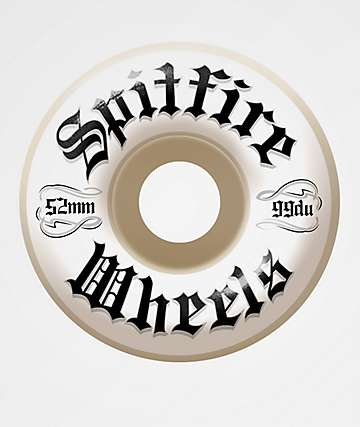 Spitfire Por Vida Classic 52mm 99a White Skateboard Wheels
