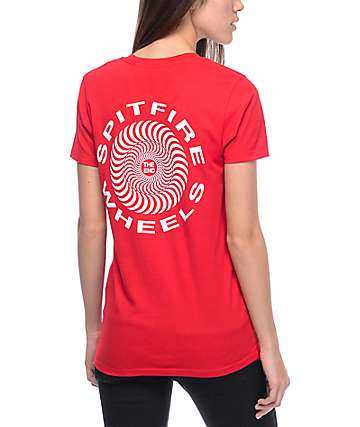 Spitfire Retro Classic Red T-Shirt