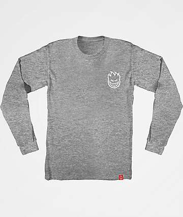 Spitfire Steady Rockin Long Sleeve Grey T-Shirt