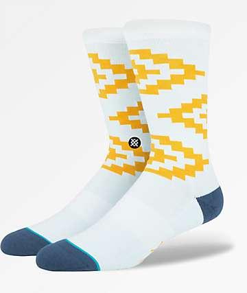 Stance Deus Cairns Blue & Yellow Crew Socks