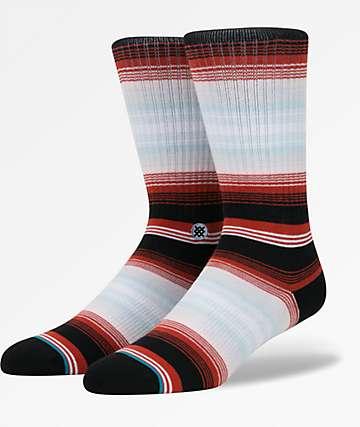 Stance Four Doors Black & Red Crew Socks